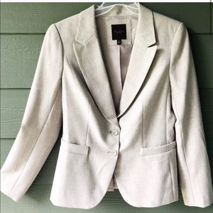 The Limited Taupe Lined Blazer Jacket Size 6